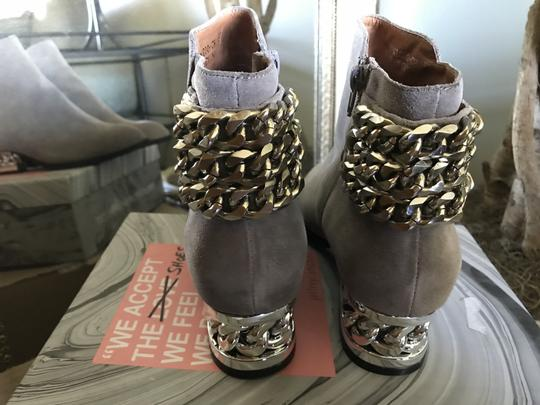 Jeffrey Campbell Ankle Chains Grey Suede Boots Image 1