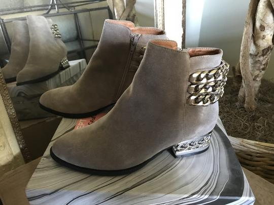 Jeffrey Campbell Ankle Chains Grey Suede Boots Image 2