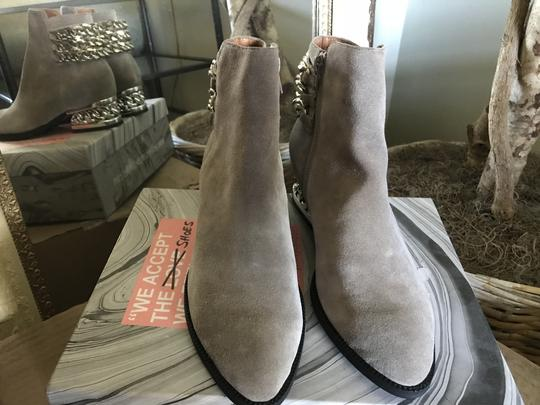 Jeffrey Campbell Ankle Chains Grey Suede Boots Image 3