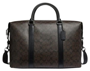 Coach Duffle Voyager Brown and black Travel Bag