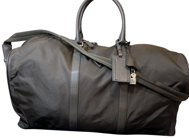Item - Boston With Strap Deep Brown Nylon Weekend/Travel Bag