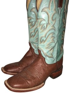 Justin Turquoise Boots