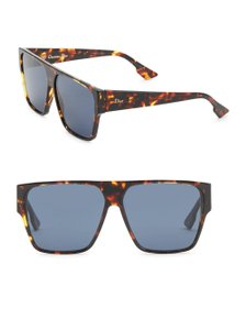 Dior NEW Dior Hit Oversized Flat Top Tortoise Sunglasses