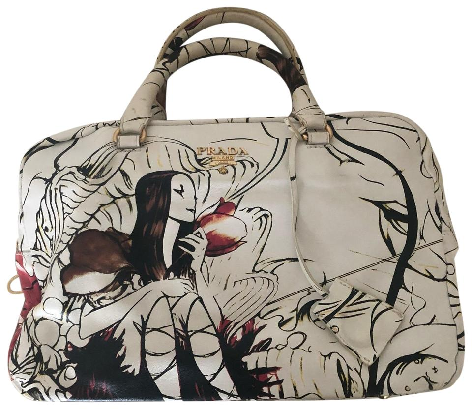 121e2aac848e Prada Very Limited James Jean Fairy Collection Bag. White Leather ...