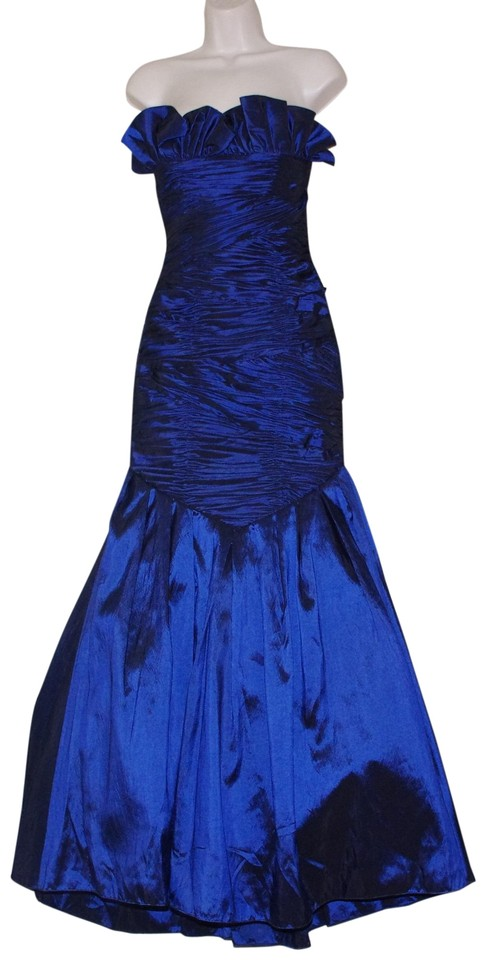 af2880a6bd3 Royal Blue Strapless Gown Long Formal Dress Size 4 (S) - Tradesy