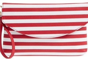 Sole Society Red and White Clutch