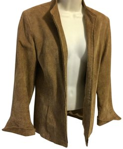 Pamela McCoy Tan Leather Jacket