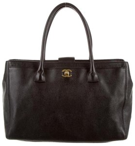Chanel Cerf Executive Gst Tote in Dark Chocolate Espresso Brown