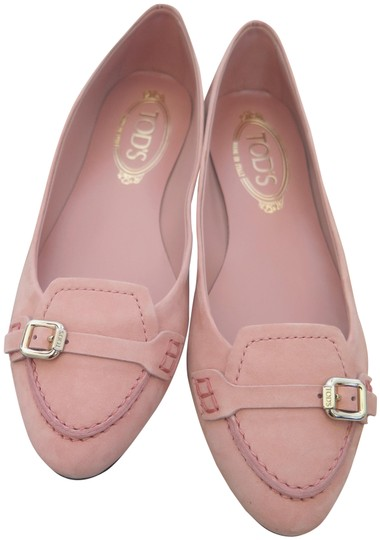 Preload https://img-static.tradesy.com/item/24211435/tod-s-pink-soft-suede-buckle-loafer-style-ballet-flats-size-eu-37-approx-us-7-regular-m-b-0-1-540-540.jpg