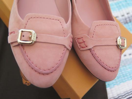 Tod's Suede Leather Comfortable Pink Flats Image 1