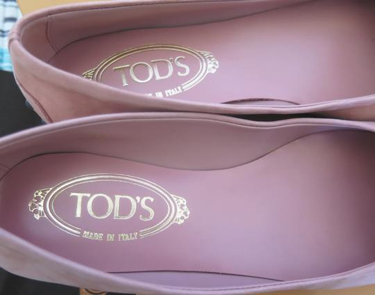 Tod's Suede Leather Comfortable Pink Flats Image 2