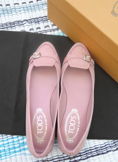 Tod's Suede Leather Comfortable Pink Flats Image 3