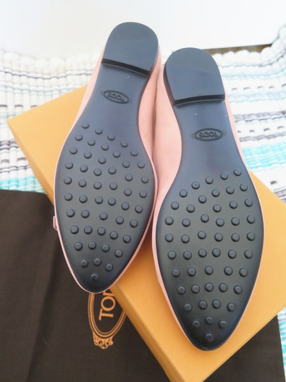 Tod's Suede Leather Comfortable Pink Flats Image 4