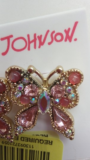 Betsey Johnson Betsey Johnson New Pink Butterfly Earrings Image 1
