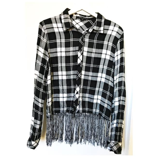 Preload https://img-static.tradesy.com/item/24211548/romeo-and-juliet-couture-black-white-long-sleeve-fringe-blouse-button-down-top-size-8-m-0-1-650-650.jpg