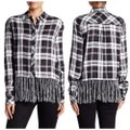 Romeo & Juliet Couture Button Down Shirt black & white Image 1