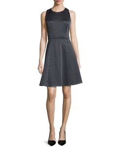 Theory Viscose Sleeveless Crewneck Circle Pattern Circle Skirt Dress