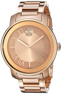 Movado Movado Bold Rose Dial Rose Gold-tone Unisex Watch 3600199