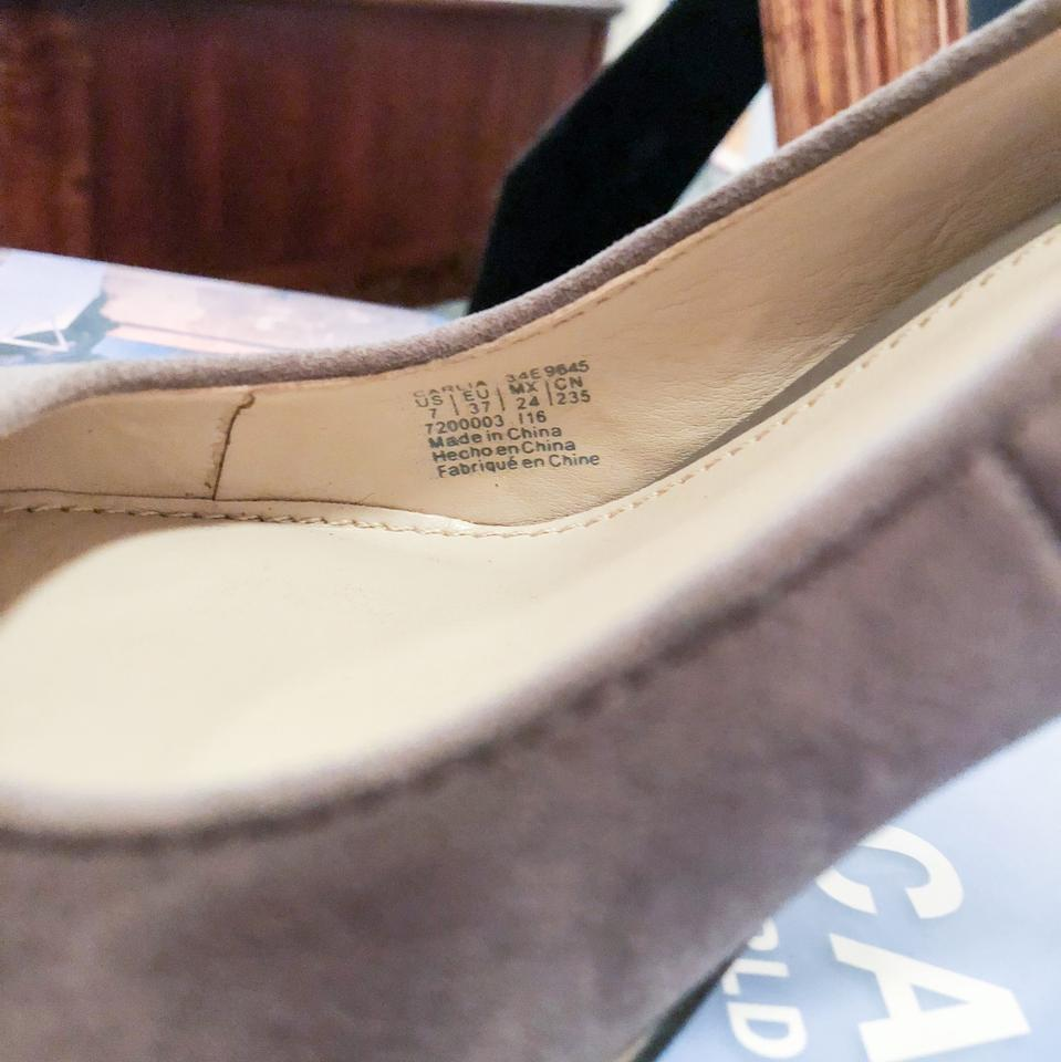 3b7fedf679d Calvin Klein Taupe Tan Gray Blaine Suede Carlia In with Neutral ...