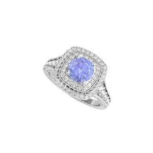 DesignByVeronica April Birthstone CZ and Tanzanite Ring 2.00 CT TGW