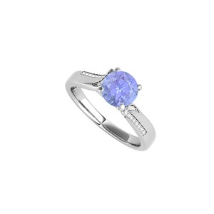 DesignByVeronica December Birthstone Tanzanite CZ Ring 1.25 CT TGW