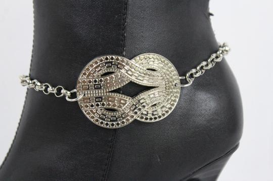 Alwaystyle4you Women Silver Boot Metal Chain Bracelet Infinity Bling ShoeAnklet Charm Image 11