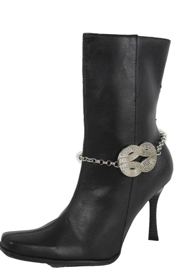Alwaystyle4you Women Silver Boot Metal Chain Bracelet Infinity Bling ShoeAnklet Charm Image 2