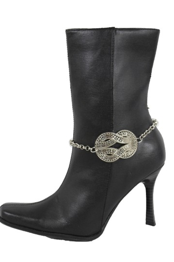 Alwaystyle4you Women Silver Boot Metal Chain Bracelet Infinity Bling ShoeAnklet Charm Image 3