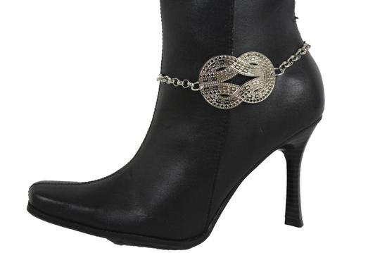 Alwaystyle4you Women Silver Boot Metal Chain Bracelet Infinity Bling ShoeAnklet Charm Image 6