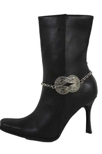 Alwaystyle4you Women Silver Boot Metal Chain Bracelet Infinity Bling ShoeAnklet Charm Image 7