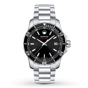 Movado Movado Men's Series 800 Black Dial Stainless Steel Watch 2600135