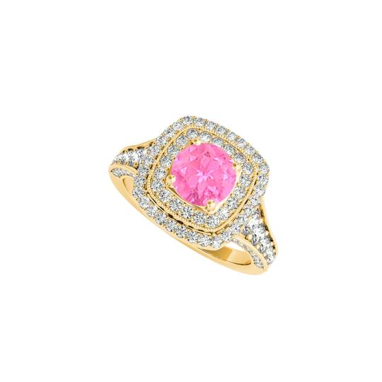 Preload https://img-static.tradesy.com/item/24212050/white-pink-sapphire-cz-halo-in-18k-yellow-gold-vermeil-ring-0-0-540-540.jpg
