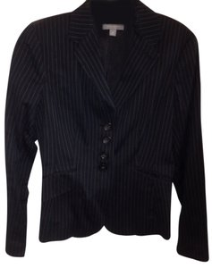Ann Taylor Black Suit With Blue Pinstripes