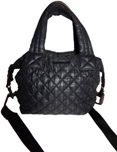 MZ Wallace Sutton Quilted Nylon Satchel in Black