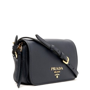 c35bf7ccc6e2 Added to Shopping Bag. Prada Camera Shoulder Messenger Flop Cross Body Bag.  Prada Flop Shoulder Navy Blue Leather ...