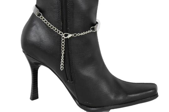 Alwaystyle4you Women Pewter Plate Boot Anklet Chain Long Fringes Cuff Bracelet Image 5