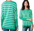 Anthropologie Curved Hem Vents Ribbed Sleeves Dolman Sleeves Oversized Fit Soft Silk Blend Sweater Image 1