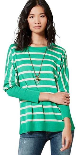 Anthropologie Curved Hem Vents Ribbed Sleeves Dolman Sleeves Oversized Fit Soft Silk Blend Sweater Image 7