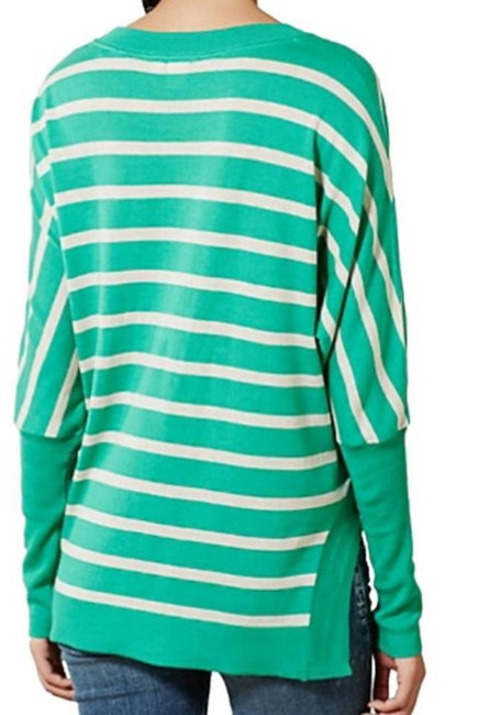 Anthropologie Curved Hem Vents Ribbed Sleeves Dolman Sleeves Oversized Fit Soft Silk Blend Sweater Image 8