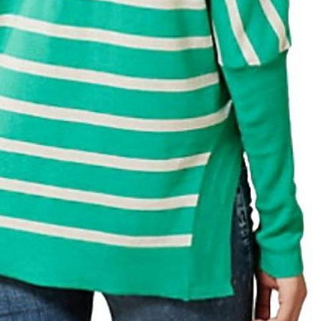 Anthropologie Curved Hem Vents Ribbed Sleeves Dolman Sleeves Oversized Fit Soft Silk Blend Sweater Image 9