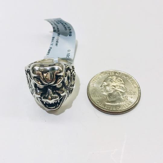 Stephen Webster NEVER WORN!! Stephen Webster Two Diamond Japanese Warrior Mask Ring Sterling Silver 23.8 grams Two Diamonds weighing 0.10 carat total weight Size 9 Can be sized!!! 100% Authentic Guaranteed!! Comes with Original Stephen Webster Pouch!! Image 9