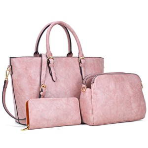 Dasein The Treasured Hippie Large Bags Affordable Bags Designer Inspired Vintage Tote in Dark Blush