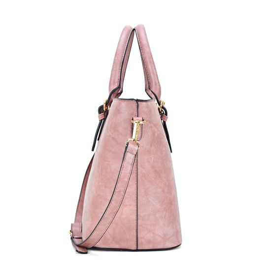 Dasein The Treasured Hippie Large Bags Affordable Bags Designer Inspired Vintage Tote in Dark Blush Image 1