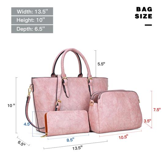 Dasein The Treasured Hippie Large Bags Affordable Bags Designer Inspired Vintage Tote in Dark Blush Image 3