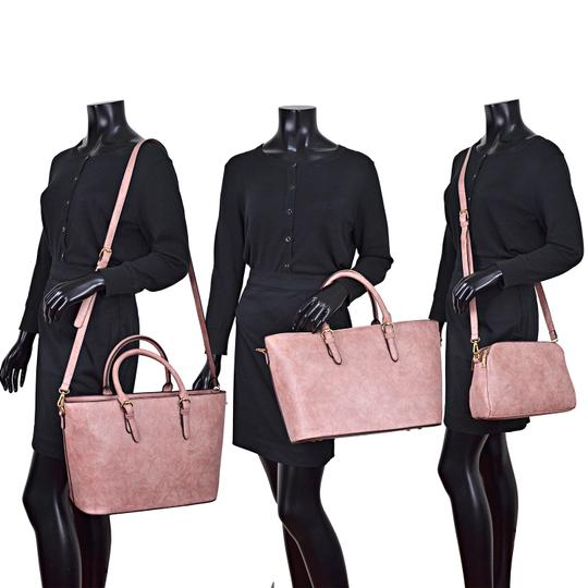 Dasein The Treasured Hippie Large Bags Affordable Bags Designer Inspired Vintage Tote in Dark Blush Image 5