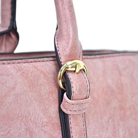 Dasein The Treasured Hippie Large Bags Affordable Bags Designer Inspired Vintage Tote in Dark Blush Image 6