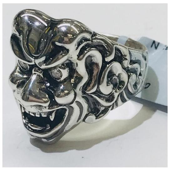 Stephen Webster NEVER WORN!! Stephen Webster Two Diamond Japanese Warrior Mask Ring Sterling Silver 23.8 grams Two Diamonds weighing 0.10 carat total weight Size 9 Can be sized!!! 100% Authentic Guaranteed!! Comes with Original Stephen Webster Pouch!! Image 1