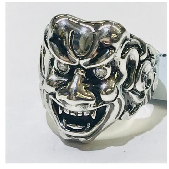 Stephen Webster NEVER WORN!! Stephen Webster Two Diamond Japanese Warrior Mask Ring Sterling Silver 23.8 grams Two Diamonds weighing 0.10 carat total weight Size 9 Can be sized!!! 100% Authentic Guaranteed!! Comes with Original Stephen Webster Pouch!! Image 3