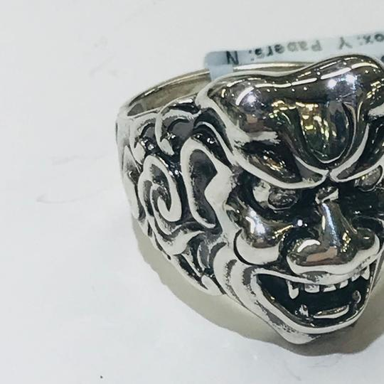 Stephen Webster NEVER WORN!! Stephen Webster Two Diamond Japanese Warrior Mask Ring Sterling Silver 23.8 grams Two Diamonds weighing 0.10 carat total weight Size 9 Can be sized!!! 100% Authentic Guaranteed!! Comes with Original Stephen Webster Pouch!! Image 5