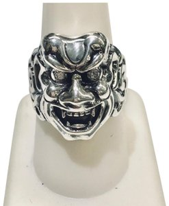 Stephen Webster NEVER WORN!! Stephen Webster Two Diamond Japanese Warrior Mask Ring Sterling Silver 23.8 grams Two Diamonds weighing 0.10 carat total weight Size 9 Can be sized!!! 100% Authentic Guaranteed!! Comes with Original Stephen Webster Pouch!!